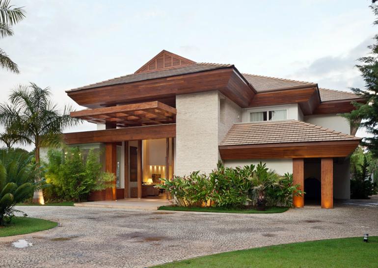 Pin de let cia rodrigues en casa pinterest fachadas for Casas modernas lindas