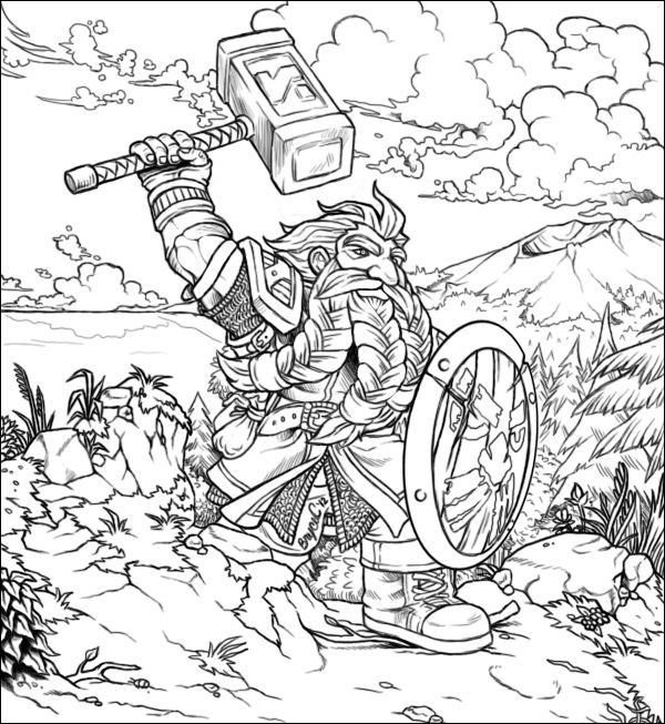 Hobbit Dwarf Coloring Pages | Coloring pages | Pinterest ...