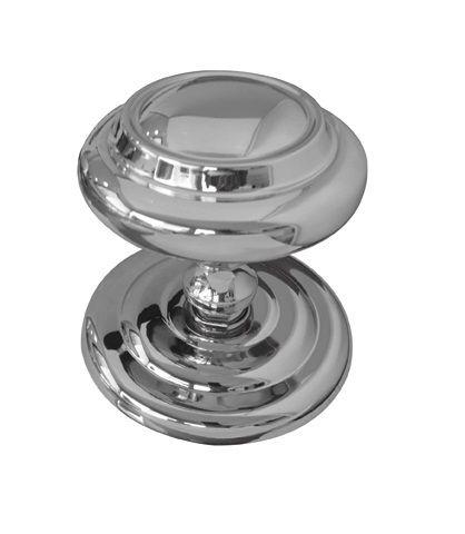Frelan JV57 Large 102mm Centre Door Knob - Satin Chrome | Door knobs ...