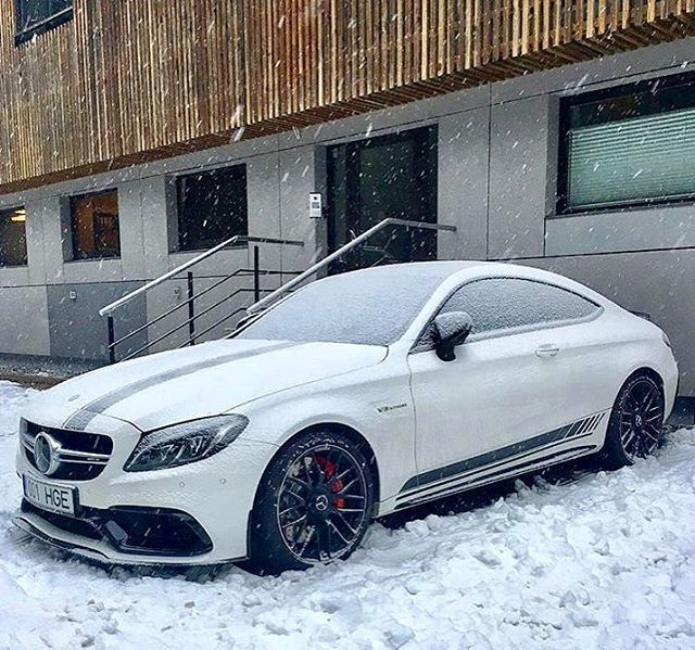 Normally one would associate anything AMG with total hotness ... but when AMG and the cold ❄️ collide... things still end up being pretty hot  ———————————————————————— Mercedes-AMG C63S Coupe Edition 1 ———————————————————————— Courtesy: @carsoftallinn
