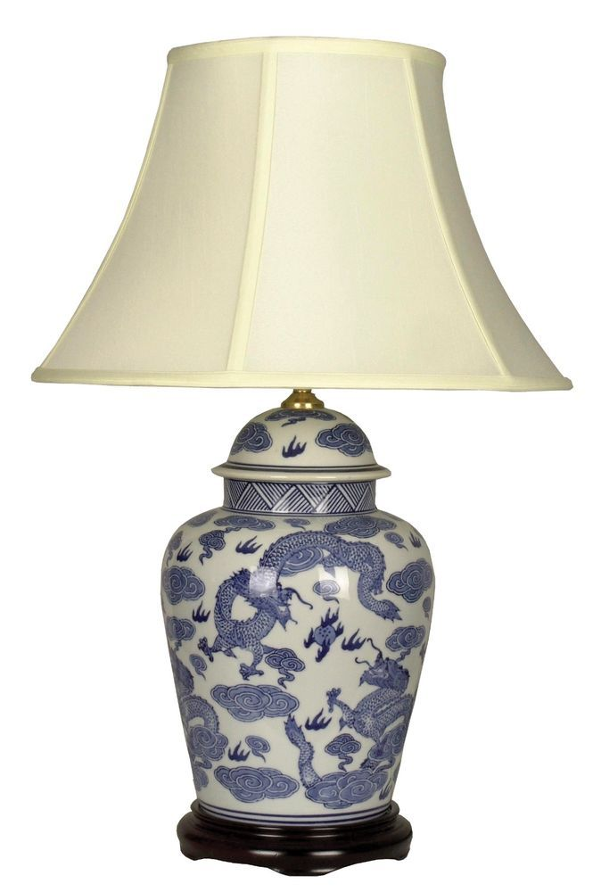 Large Oriental Ceramic Table Lamp M7398 Chinese Mandarin Style For Any Room
