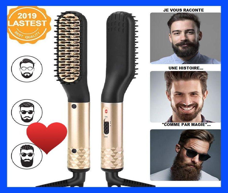 Nouveau Brosse Lisseur Peigne Homme Multifonctionnel Coiffure Barbe Cheveux Beard Straightening Hair Straightener For Men Straightening Brush
