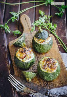 receta de calabazas rellenas de jamón y queso. receta con fotografías de cómo hacer y sugerencias de cómo comerla. recetas saludables...