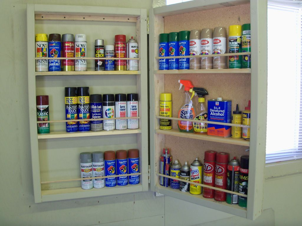 What S On Your Walls Neat Storage Ideas Spray Paint Storage
