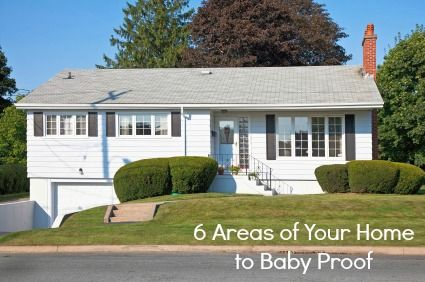 6 areas in your home to make sure to baby proof #spon