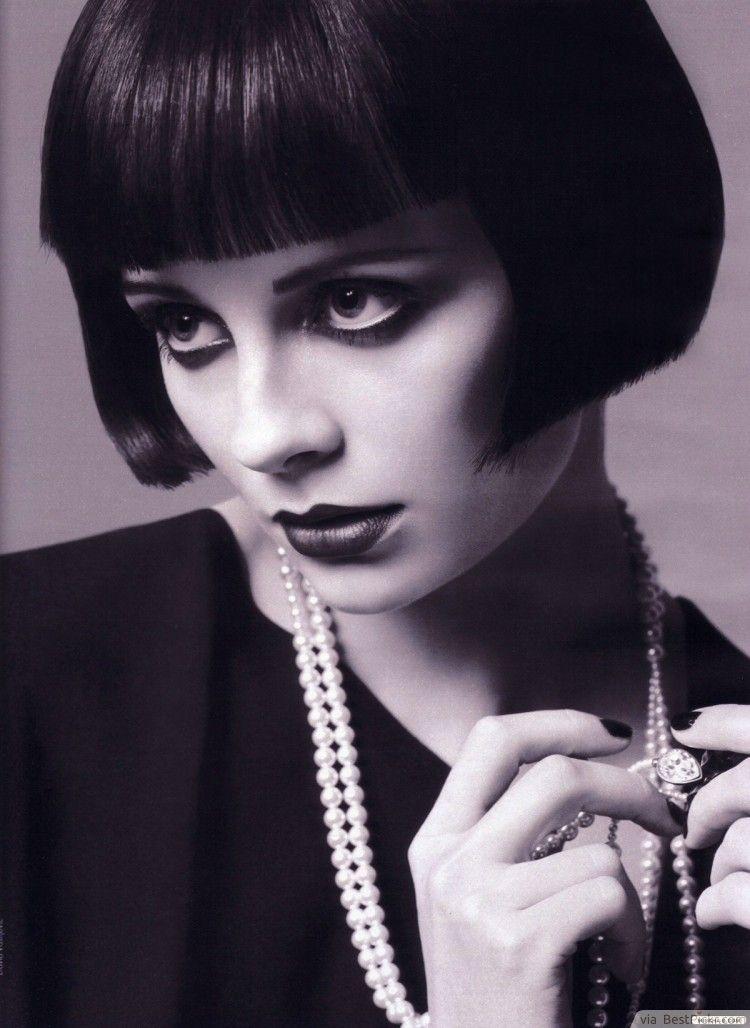Sleek Bob 1920s Short Haircut Louise Brooks Rose To Stardom