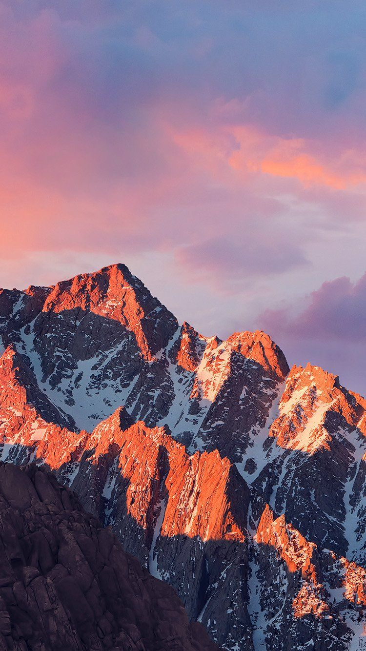 4k Sierra Apple Wallpaper Art Mountain Sunset Wallpaper Hd Iphone