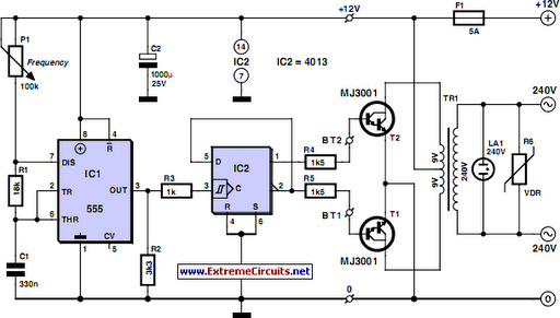 Cheap 12V to 220V Inverter Circuit Project | wiring | Pinterest ...