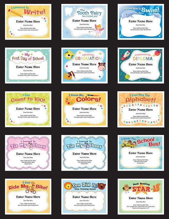 child certificates milestones pack kids certificates parents