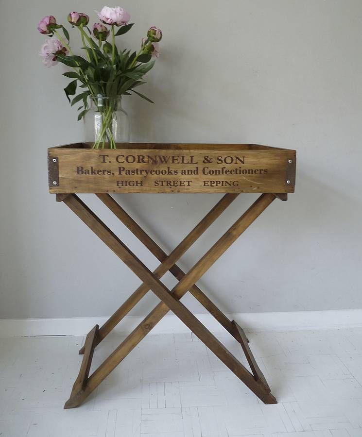 Wooden Butler S Tray Table By Cooper Rowe Vintage Living