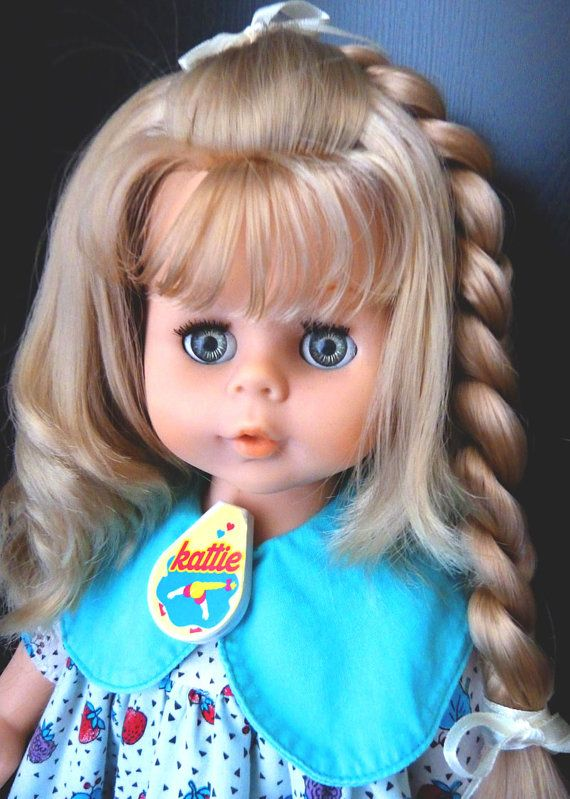 VINTAGE DOLL KATIE Tears Growing hair! Kenner/Raynal