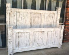 Timber Frame Trestle Bed - Rustic Bed, Big Timber Bed, Queen Bed, King Bed, Beam Bed Reclaimed Wood Bed Massive Bed Craftsman Timber Frame