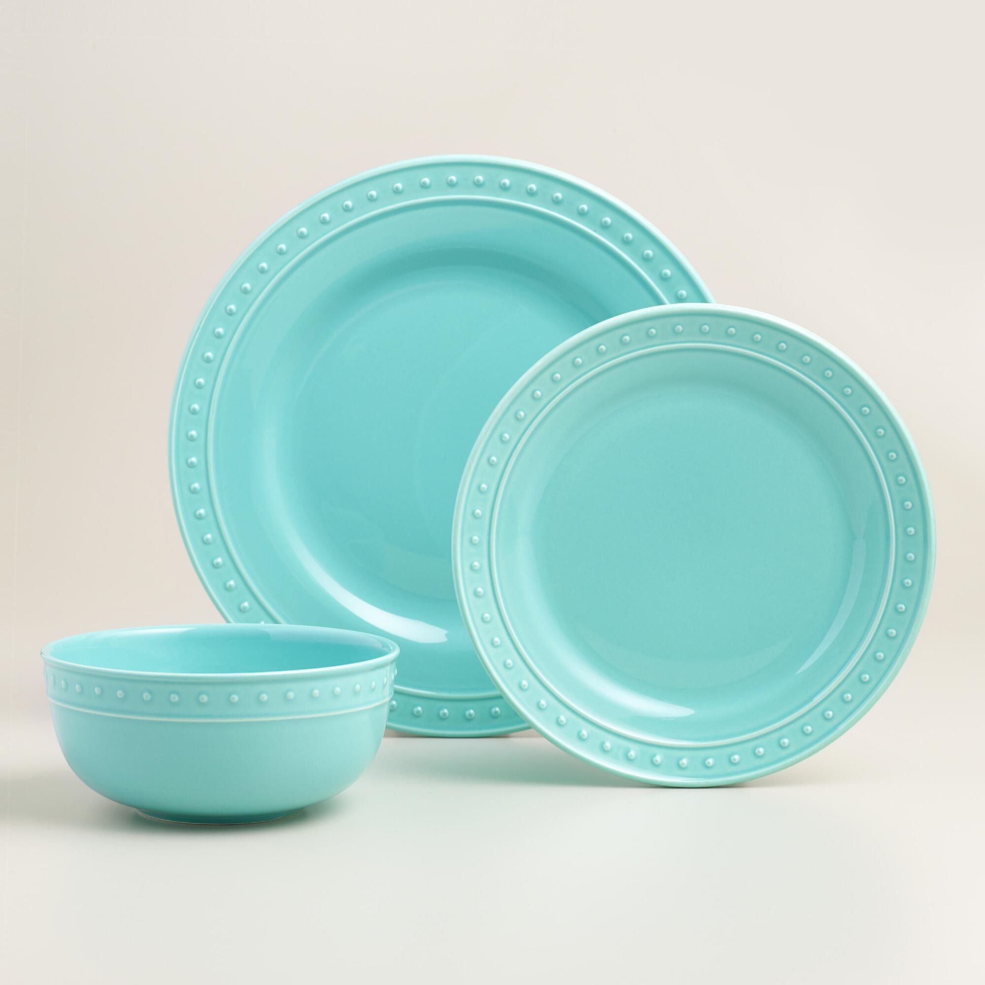 Aqua Nantucket Dinnerware | I Want That! | Pinterest