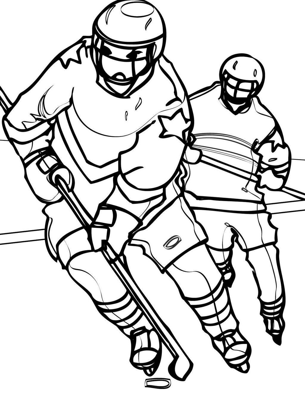 hockey jersey and uniform coloring sheet | sport coloring page ...