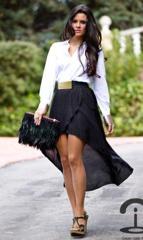 2d3b8d28be Estas faldas cortas adelante y largas atrás son lo máximo... el viento las  vuelve dramáticas... hermosas!