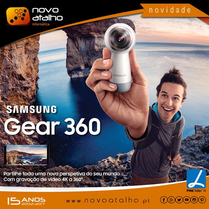 A Gear 360 evoluiu para lhe permitir gravar em 4K ou transmitir em directo os melhores momentos da sua vida. Torne-os ainda mais seus editando-os através da aplicação Gear 360. Redesenhámos o seu formato para  torná-la mais leve e mais fácil de transportar. As suas memórias não vão ser a única coisa que não vai querer largar.   Encomende já o seu Gear 360 em  http://goo.gl/oOrVHG #novoatalho #samsung #gear360