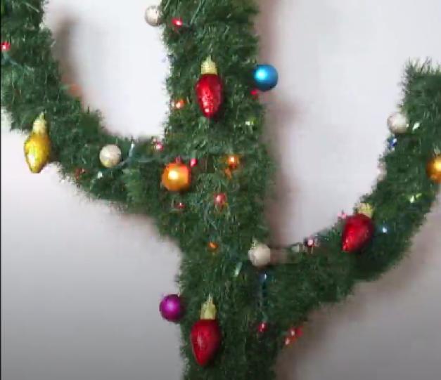 How To Make A Cactus Christmas Tree You Will Love In 2020 Unique Christmas Trees Book Christmas Tree Easy Christmas Diy