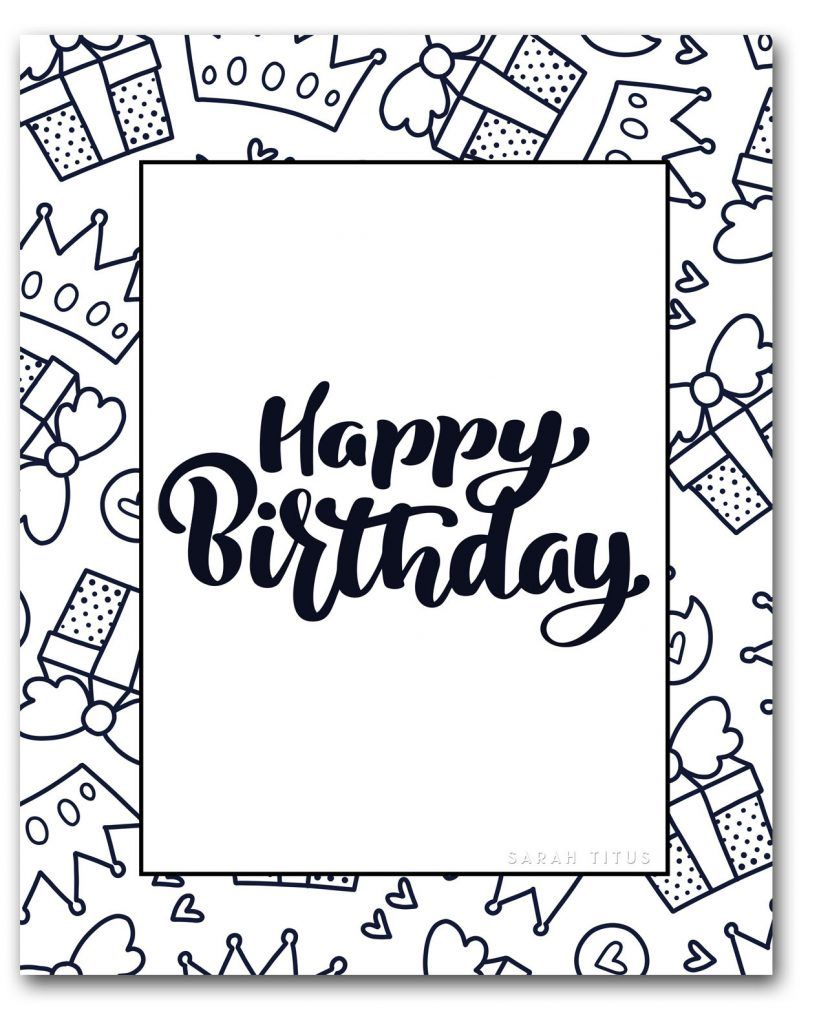 Coloring Book For Adults Free Printables Clean Birthday Coloring Pages Happy Birthday Coloring Pages Coloring Birthday Cards