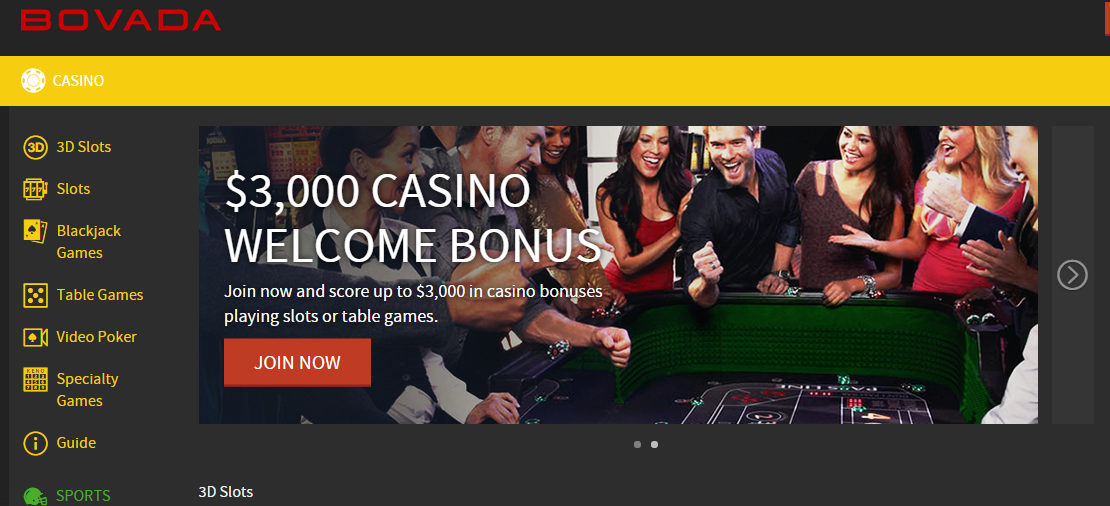 is the major part of Bovada's online