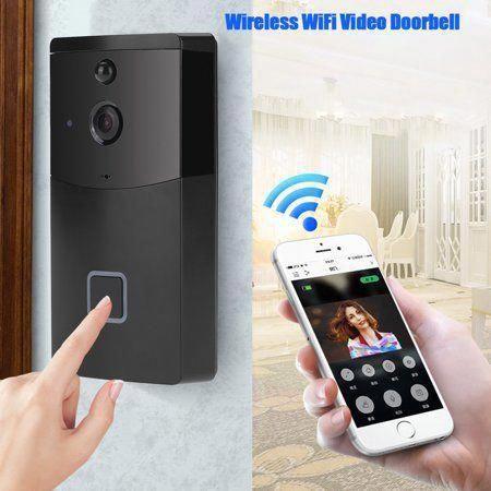 EECOO Night Vision Doorbell,Wireless WiFi Doorbell Video ...