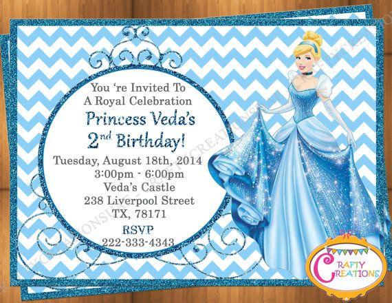 Cinderella invitation princess cinderella party invite disney cinderella invitation princess cinderella party invite disney printable cinderella birthday invitation personalized filmwisefo
