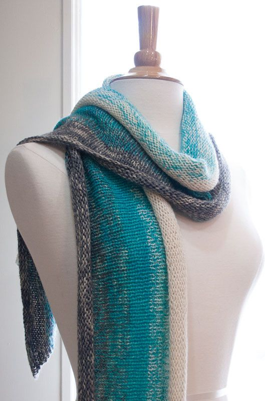 Gradiente Scarf | Scarf knitting patterns, Knitting for ...