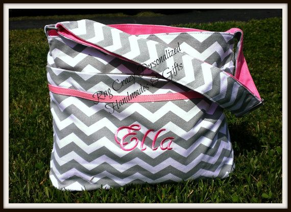 Diaper Bag Chevron Personalized Baby Boy Monogrammed