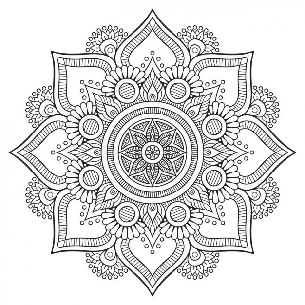 Dise o de fondo floral vector gratis mandalas for Disenos de mandalas