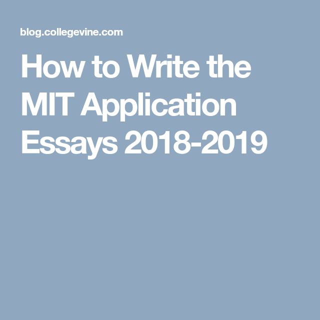 What does your accepted MIT application look like? - Quora