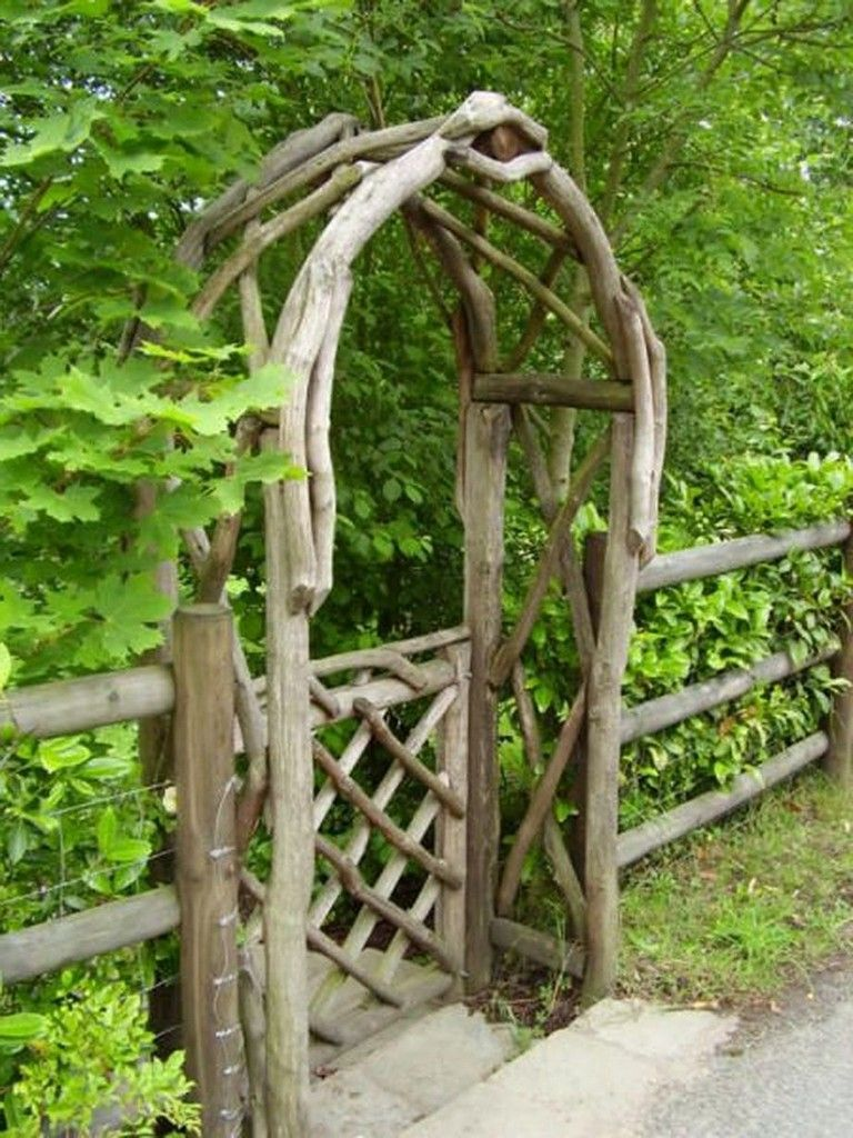 70 Fantastic Rustic Garden Gates Decor Ideas