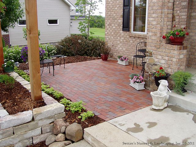 charming front yard patio