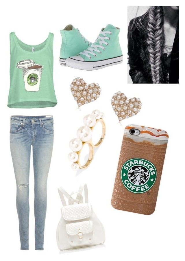 """""""Starbucks Days"""" by bellaroyale ❤ liked on Polyvore featuring rag & bone, Converse, River Island, BaubleBar and Forever New"""