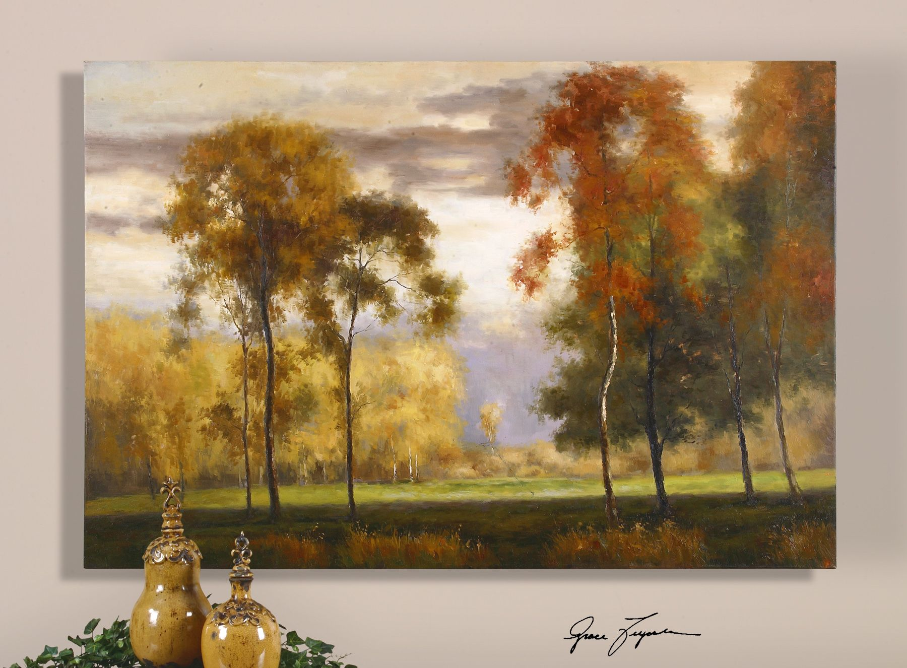 Uttermost majestic friends hand painted art for the home