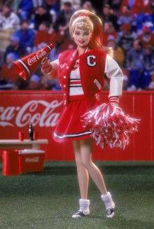 Coca-Cola® Barbie® Doll (Cheerleader) Pop Culture Dolls - View Collectible Barbie Dolls From Pop Culture Collections | Barbie Collector