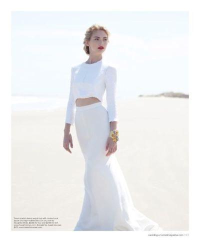 vestido de novia con crop-top | Top Crop | Pinterest | Website and ...