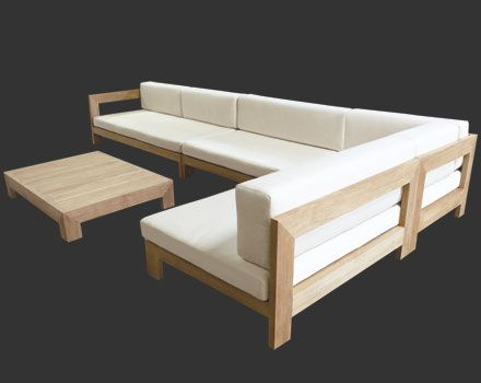 Outdoor Teak Deep Seating Furniture Sets And Sectionals