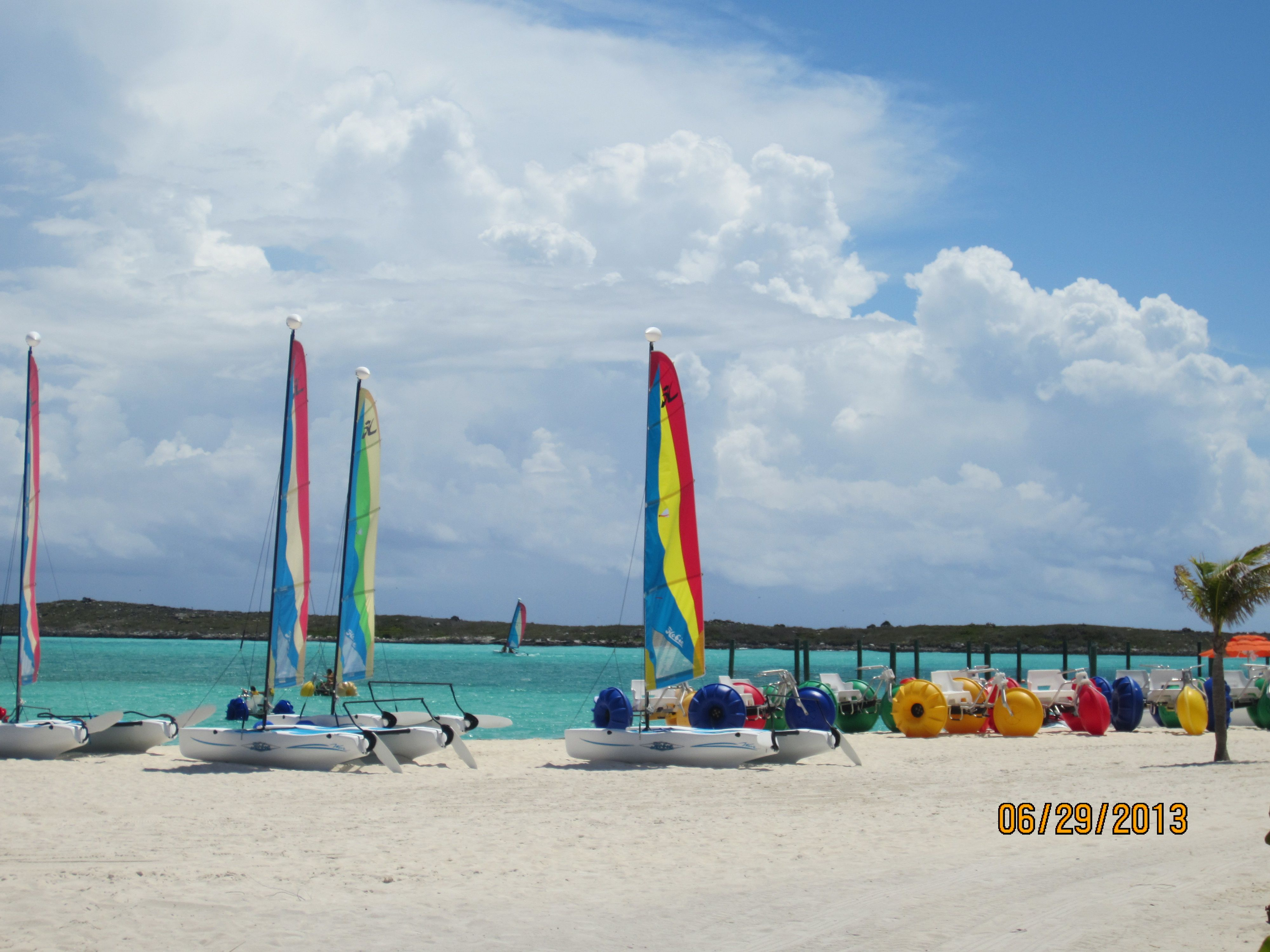 Many activities on beautiful Castaway Cay - Disney's private island