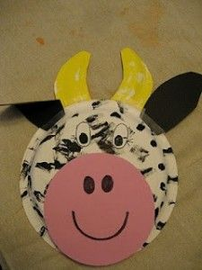 paper plate cow craft & paper plate cow craft | Paper plate crafts idea for kids | Pinterest ...