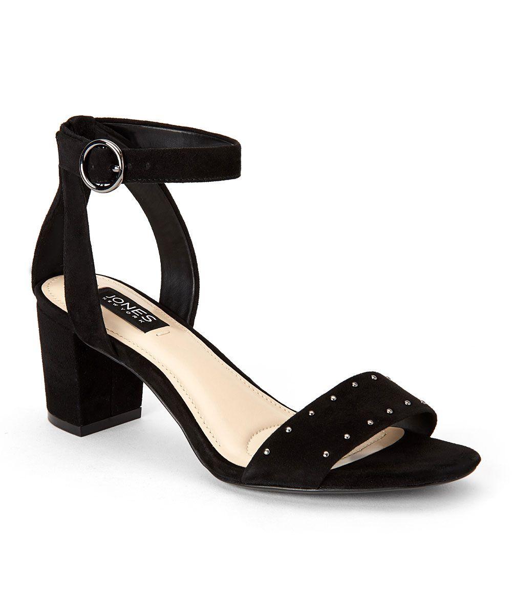 Black sandals jones - Jones New York Black Rory Kid Suede Sandal Zulily