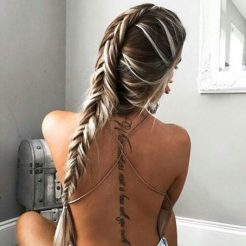 Platinum Blonde Highlights With Brown Hair Tattoo S Tattoos