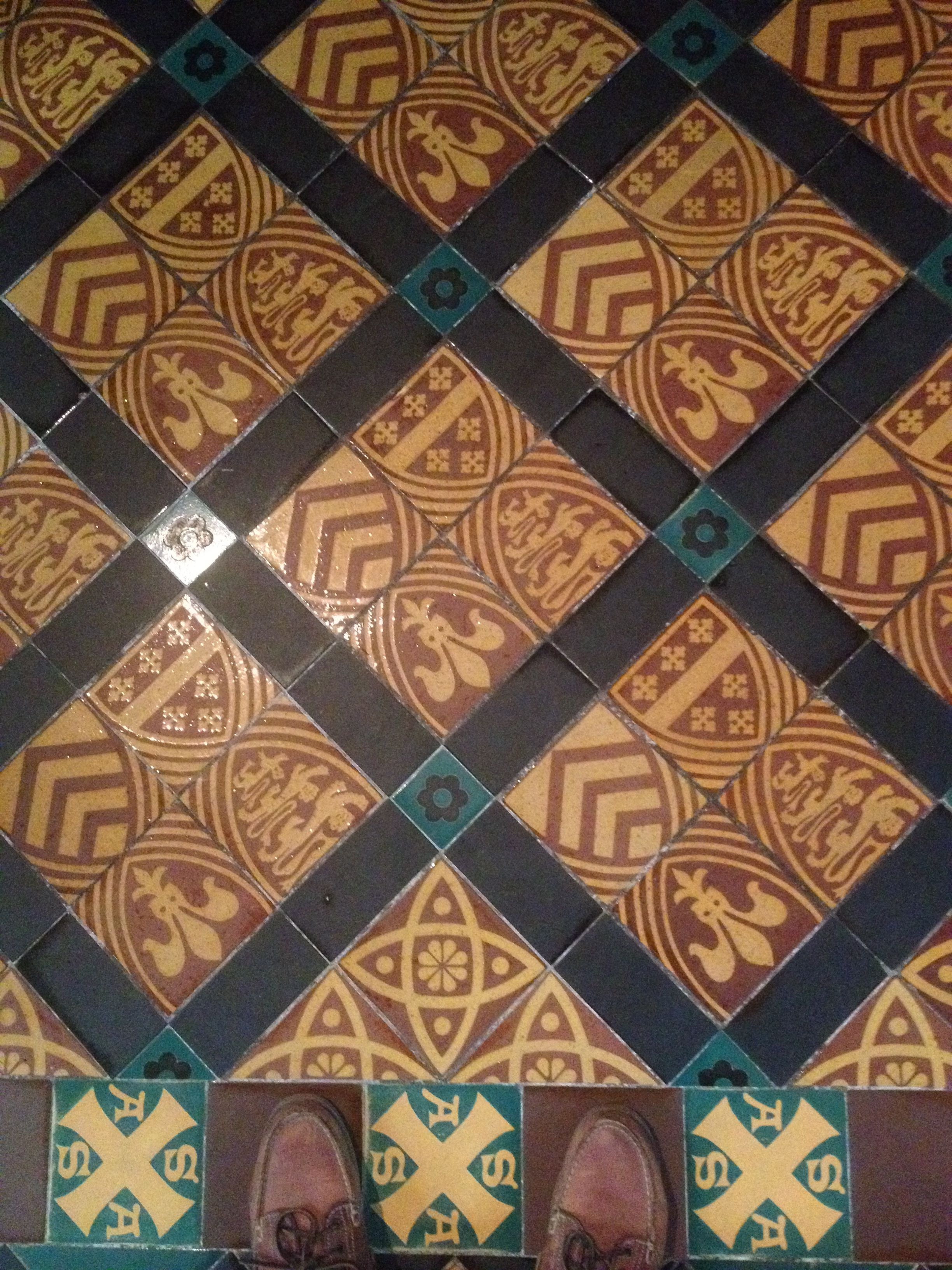Gloucester Cathedral Tiles