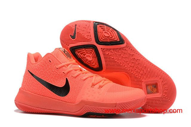 purchase cheap c46b8 81d70 Nike Kyrie 3 iD Bright Red Black Logo Men s Basketball Shoes  76.00