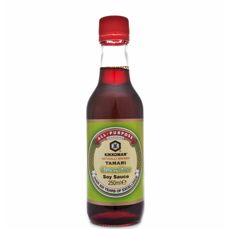 B0089 kikkoman tamari gluten free soy sauce 250ml gluten