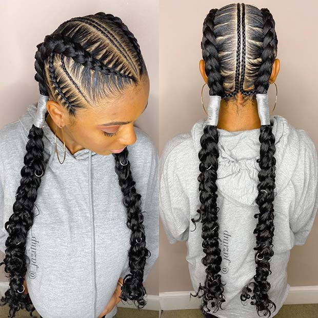 21 Bohemian Feed In Braids You Must See Stayglam Feed In Braids Hairstyles Braided Hairstyles Hair Styles