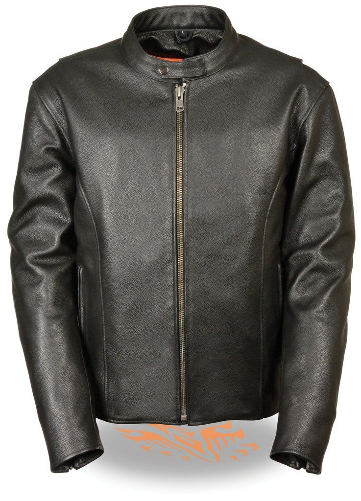 Men S Classic Scooter Jacket W Side Zippers Leather Jacket Men Motorcycle Jacket Women Leather Jacket