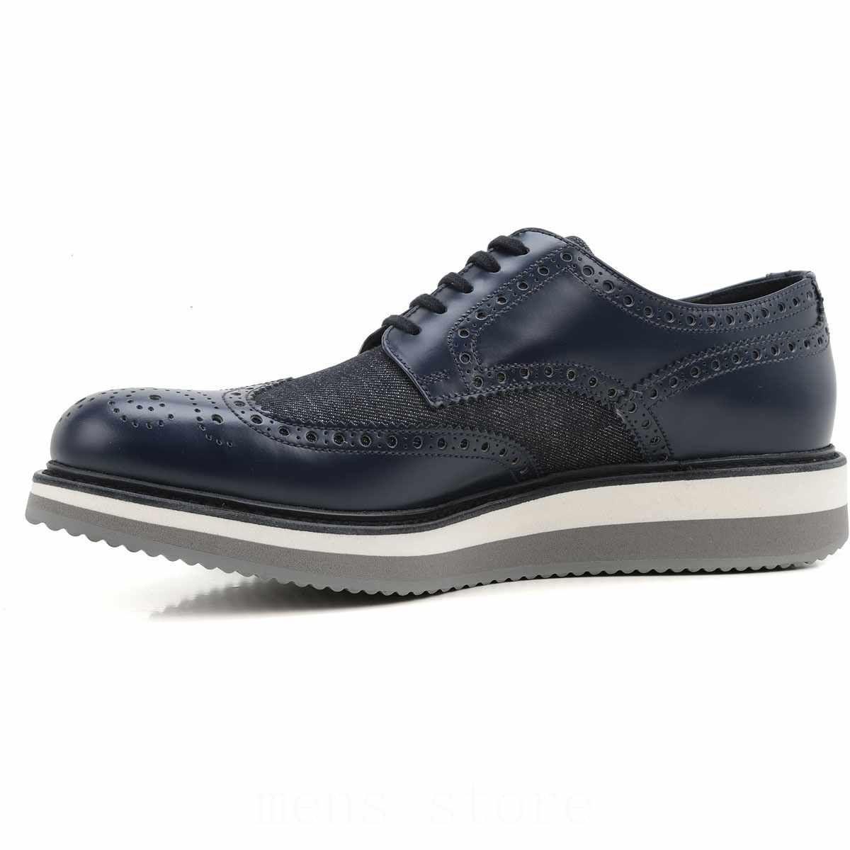 brogues for men | healthy Prada Brogues Blue Denim Shoes for Men, High  Quaity