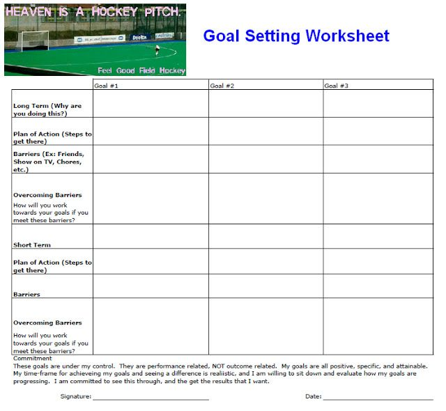 printable goal setting worksheet here 39 s my own goal setting worksheet that i use with my. Black Bedroom Furniture Sets. Home Design Ideas