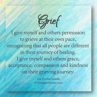 I will hang this in the room I do massage for grief in. An important reminder