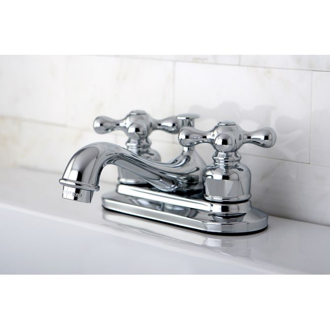 Kingston Brass KBAX Restoration Polished Chrome Two Handle - 4 inch minispread bathroom faucet