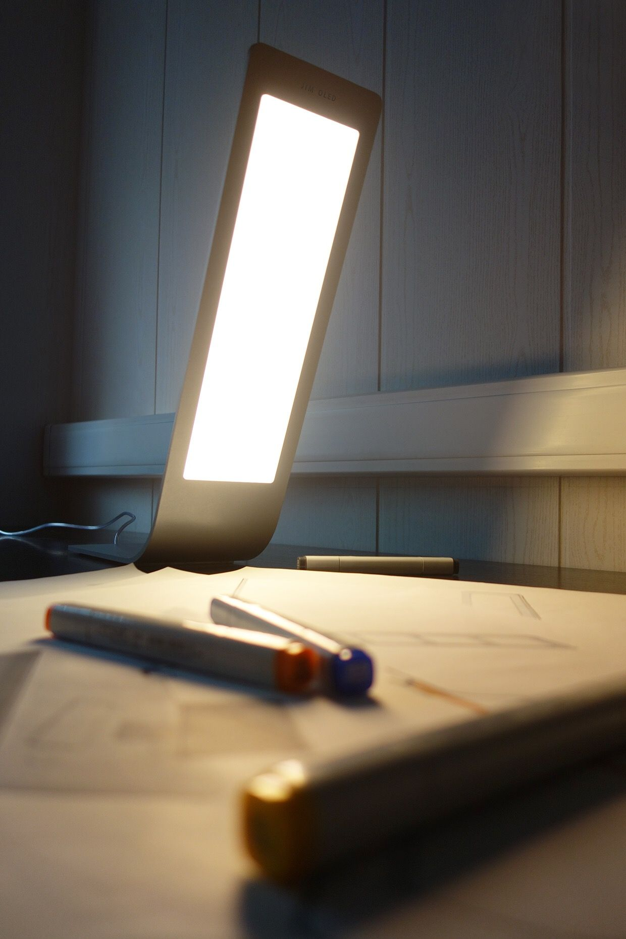 desk lighting solutions. Olga Kalugina\u0027s JIM Lamp Combines Apple-style Minimalism With Ultra-thin OLED Lighting To Achieve A Modern, Simplistic Aesthetic That\u0027s Complimentary Of Desk Solutions